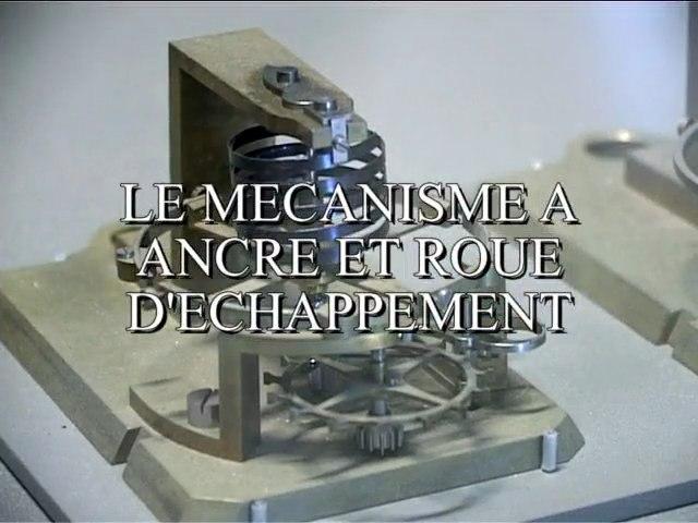 Les horloges : mécanisme à ancre et roue d'échappement