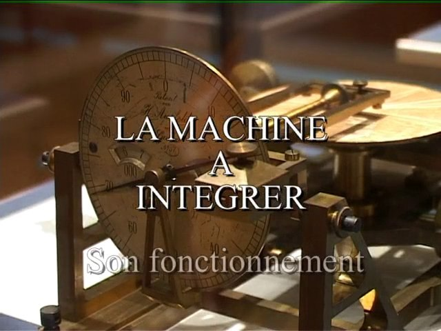 La machine à intégrer