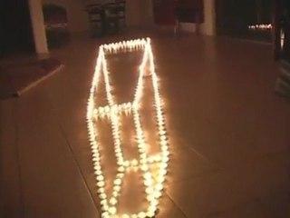Illusion d'optique avec des bougies