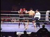 Kick Boxing jambe cassé en deux