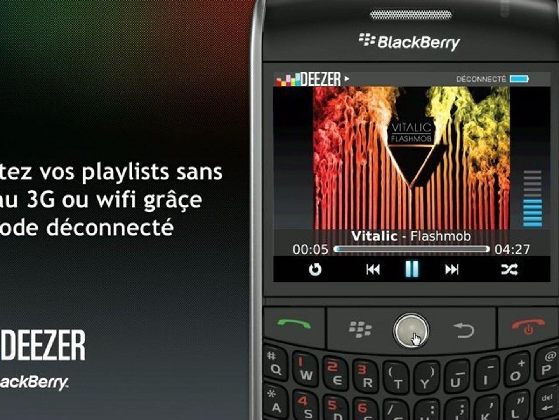 Deezer sur votre BlackBerry
