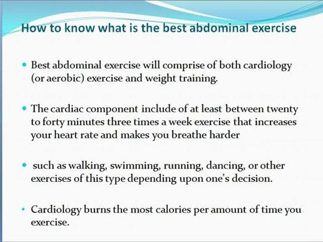 Abdominla exercise