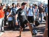 Démo de Foot Freestyle lors du RedBull Street Style