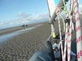 vent de nord sur la plage de Malo Bray dunes