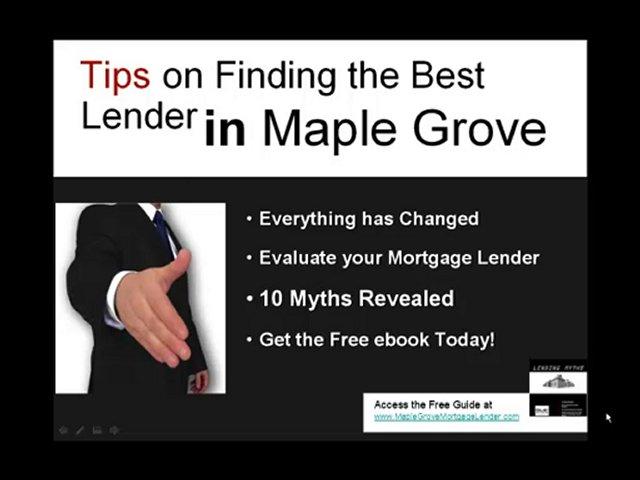 Maple Grove Mortgage Lender, Mortgage Lender, Mortgage Lend
