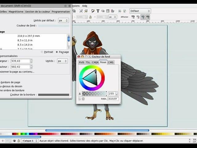 Tuto inkscape : choisir la couleur de fond