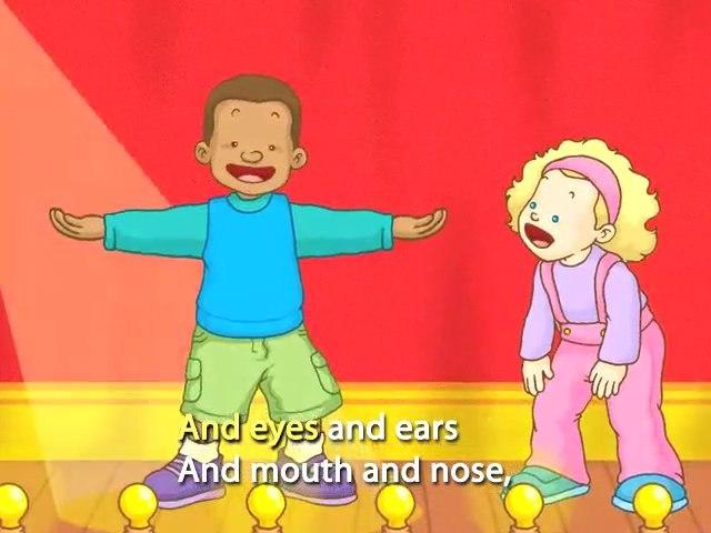 Kids Song :Head Shoulders Knees Toes (with lyrics)
