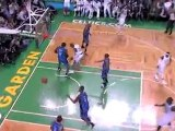Ray Allen drives to the basket and throws down the huge dunk