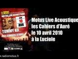 Motus Live Acoustique : les Cahiers d'Auré (Concert)