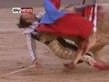 Un torero encorné de façon spectaculaire en Espagne