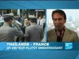 Thaksin met le gouvernement français dans l'embarras