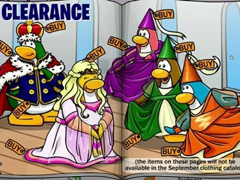 Club Penguin Clothing Catalog Cheats for August, 2009