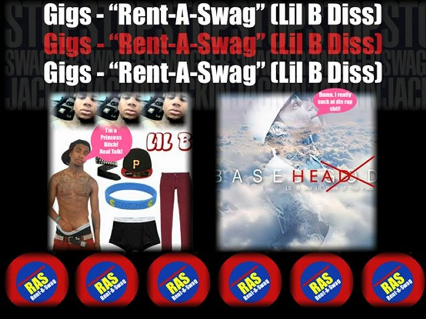 Gigs - Rent A Swag (Lil B Diss) Bay Area Rap Music