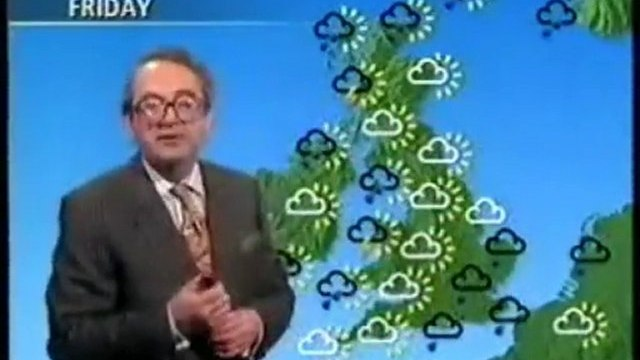 BBC Weather Forecast, Thursday August 27th 1992