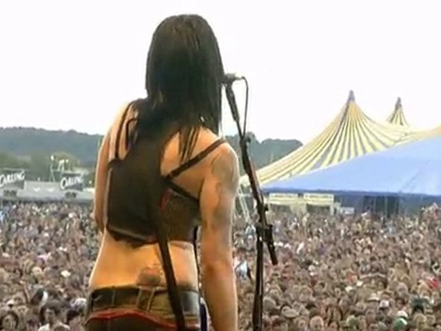 The Distillers live at Reading Festival