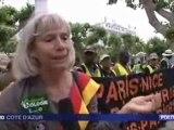 France 3-Cannes-30 mai-arrivée de la marche des Sans Papiers