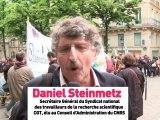 Daniel Steinmetz: les exigences des chercheurs