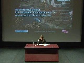 """R. W. Fassbinder, """"Imitation de la vie"""" extrait de """"Les films libèrent la tête"""""""