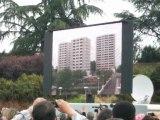 Demolition des 3 tour a la cité des indes le 6 juin 2010