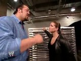 Stephanie McMahon, Big Show and Eric Bischoff backstage