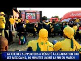 Afrique du Sud-Mexique: match nul mais joie du public