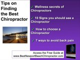Chiropractor in Newport Beach. Find a Newport Beach Chiropr