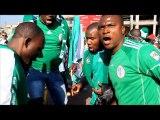 Mondial: supporteurs nigérians et argentins avant le match