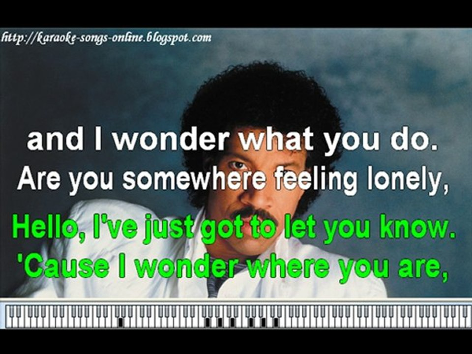 Lionel Richie - Hello -Karaoke songs online
