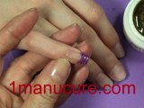French manucure fantaisie pailleté dAmerican Nails