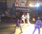 Démo de taekwondo nuit des arts martiaux