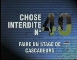 """Emission """"100 Choses Interdites"""" à l'école de cascade Action Training Productions"""
