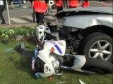 TORCY - Un motard policier fauché par une voiture