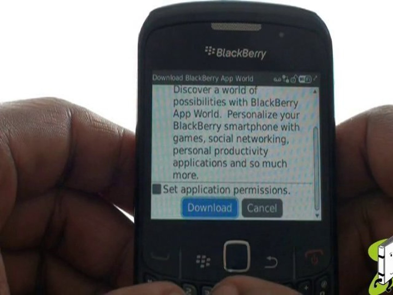 Downloading BlackBerry App World | Curve 8520 | The