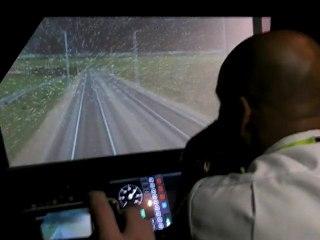 Simulateur conduite de TGV ligne Paris Strasbourg