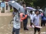 Water logging during heavy rain in Mumbai