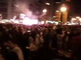 Festejos en Montevideo partido Uruguay Ghana