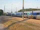 Passage d'une rame TGV PSE à destination de Cherbourg (provenance Dijon Ville)