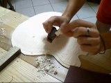 Kenzo Lutherie Guitare - Réalisation d'un galbe de guitare
