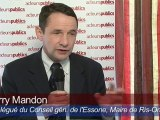 Thierry Mandon, maire de Ris-Orangis, CG de l'Essonne