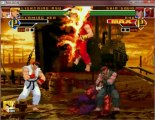 Lightning Ryu & Flaming Ken vs Shin Gouki & Evil Ryu