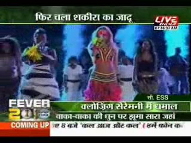 Shakira Waka Waka agian with Live India
