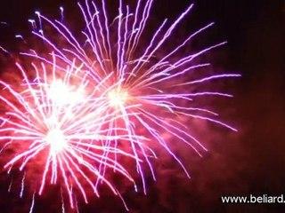 Fête nationale 2010, les feux d'artifices de Besançon