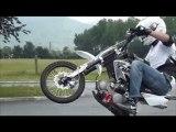Luciano / Maitre vin's pitbike stunt version fonky family