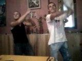 mon cousin et mon bof a la wii dance