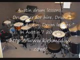 Austin drum lessons, Drummer for hire, Drum lessons Austin,