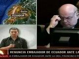 Ecuador aceptó renuncia de embajador ante la OEA