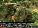 Bolivia realiza operativos antidrogas con fondos propios