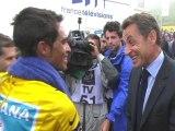 Sarkozy interroge Contador sur le Tour de France