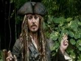 Première vidéo du retour du capitaine Jack Sparrow !