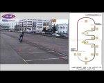 épreuves de plateau de la maîtrise de la moto à allure lente